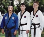 Master Cho with Alan and son James